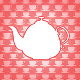 Coffee pot and cups, on backgrounds Royalty Free Stock Photography