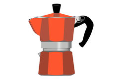 Coffee pot. Digital illustration representing an enameled red coffeepot Royalty Free Stock Photos