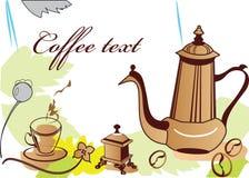 Coffee-pot en een kop van koffie stock illustratie