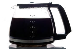 Coffee pot filled. A filled coffee pot isolated against a white background Stock Photo