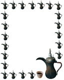 Coffee pot frame Royalty Free Stock Photography