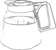 Coffee Pot Line Art Drawing Stock Photos