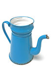 Coffee pot madam blue Royalty Free Stock Image