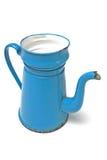 Coffee pot madam blue Royalty Free Stock Image