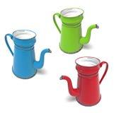 Coffee pot madam blue Stock Photography
