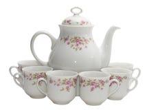 Coffee-pot met zes koppen Royalty-vrije Stock Fotografie