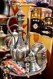 Coffee pot set. Souvenir coffee pot set on display at Grand Bazaar Stock Image
