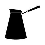 Coffee pot steel image pictogram Royalty Free Stock Photography