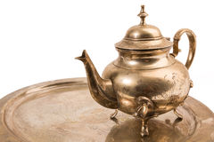 Coffee pot on tray Royalty Free Stock Photos