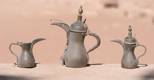 Coffee Pots. Traditional Coffee Pots, Petra, Jordan Royalty Free Stock Images