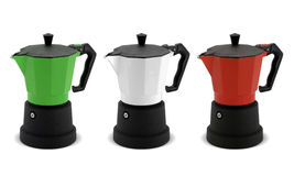 Coffee pots Stock Images
