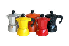 Coffee pots Royalty Free Stock Image