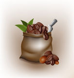 Coffee poured out of the sack vector design Stock Photography