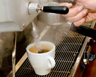 Coffee pouring Stock Photos
