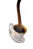 Coffee pouring into cup Stock Images