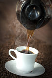Coffee Pouring into a Cup Royalty Free Stock Photo