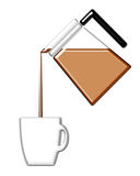 Coffee Pouring Into a Mug Stock Images
