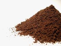 Coffee powder 1. Some coffe powder on white background Royalty Free Stock Photos