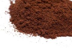 Coffee powder. Pile of fresh ground coffee isolated on white background Royalty Free Stock Photos