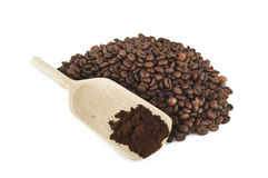 Coffee powder Stock Image