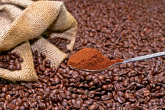 Coffee powder Stock Photos