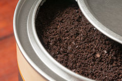 The coffee powder Royalty Free Stock Photos