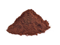 Coffee powder isolated on the white background. Coffee powder isolated on white background stock images