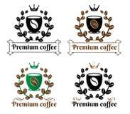 Coffee premium logo Royalty Free Stock Photos