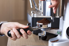 Coffee preparation Royalty Free Stock Images