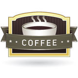 Coffee product label sticker. Coffee label sticker for use on product packaging, websites, print materials, and marketing Royalty Free Stock Photos