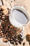 Coffee products. Coffee brake,coffee beens and smell of coffee Royalty Free Stock Photo