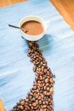Coffee products. And coffee brake for people Stock Images