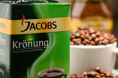 Coffee products of Jacobs Douwe Egberts Royalty Free Stock Photo