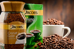 Coffee products of Jacobs Douwe Egberts Royalty Free Stock Images