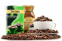 Coffee products of Jacobs Douwe Egberts Royalty Free Stock Photography