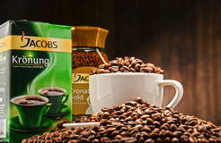 Coffee products of Jacobs Douwe Egberts Stock Photo