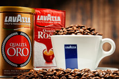Coffee products of Lavazza Stock Photos