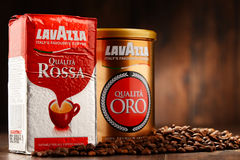 Coffee products of Lavazza Stock Images