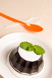 Coffee pudding, sweet dessert. Royalty Free Stock Image