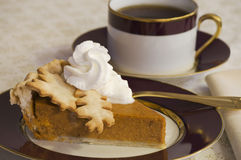 Coffee and Pumpkin Pie Stock Photo