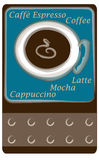 Coffee Punch Card. Punch card for a coffee shop drawn in Illustrator CS2 Royalty Free Stock Photos