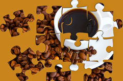 Coffee puzzle Royalty Free Stock Images