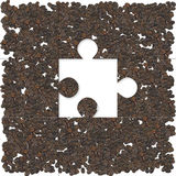 Coffee puzzle Stock Image