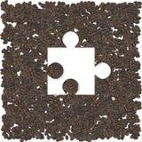 Coffee puzzle Stock Image