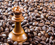 Coffee and the Queen of Chess Stock Image