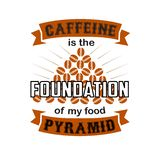 Coffee quote and saying. Caffeine Foundation. Coffee Quote and Saying Best for Graphic Goods. Caffeine Foundation. Coffee Quote and Saying Best for Graphic Goods vector illustration