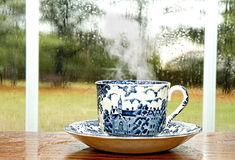 Coffee on Rainy Day Royalty Free Stock Image