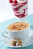 Coffee and raspberry parfait Stock Image