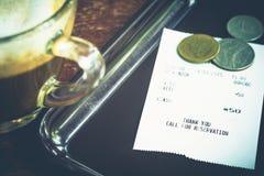 Coffee receipt Royalty Free Stock Photo