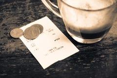 Coffee receipt Stock Image